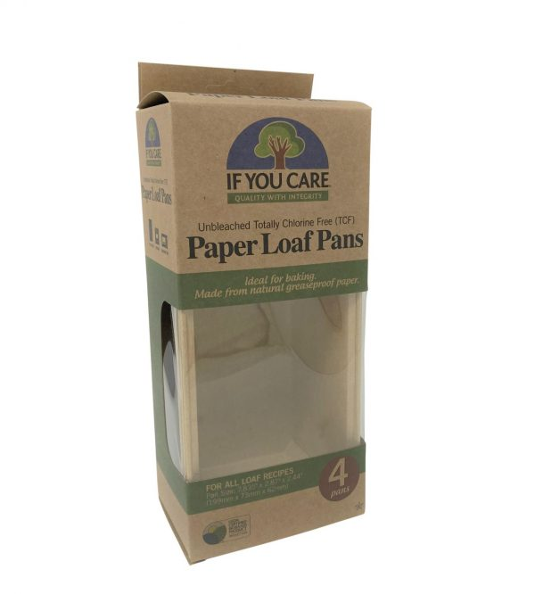 Compostable paper baking loaf cases