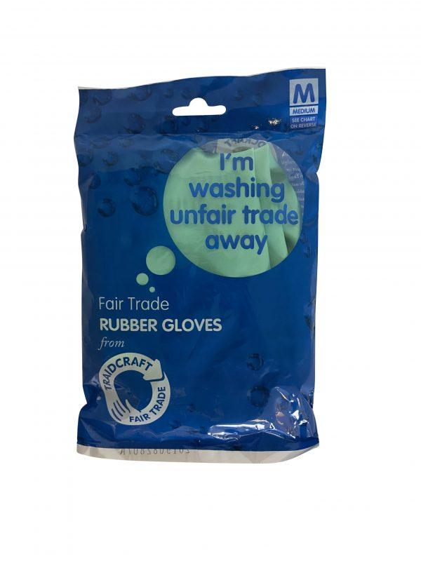 Fairtrade rubber gloves