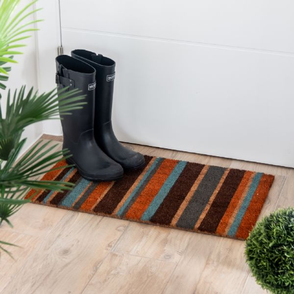 coir doormat in situ