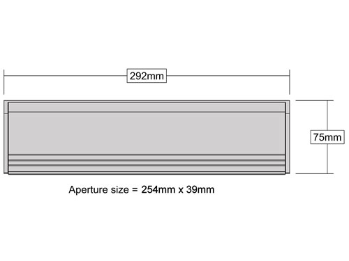 Letterbox excluder measurements