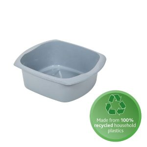 100% recycled plastic washing up bowl square