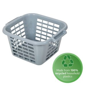100% recycled plastic laundry basket