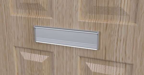 letterbox draught excluder attached to a door