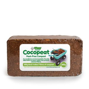 650g block of compressed cocopeat, a peat free compost
